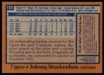 1978 Topps #723  John Wockenfuss  Back Thumbnail
