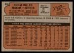 1972 Topps #466  Norm Miller  Back Thumbnail