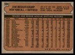 1972 Topps #594  Jim Beauchamp  Back Thumbnail