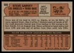 1972 Topps #686  Steve Garvey  Back Thumbnail