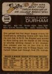 1973 Topps #548  Don Durham  Back Thumbnail