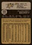 1973 Topps #445  Ken Berry  Back Thumbnail