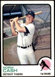 1973 Topps #485  Norm Cash  Front Thumbnail