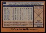 1978 Topps #614  Joe Wallis  Back Thumbnail