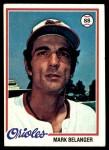 1978 Topps #315  Mark Belanger  Front Thumbnail