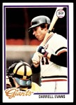 1978 Topps #215  Darrell Evans  Front Thumbnail
