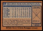 1978 Topps #361  Chris Knapp  Back Thumbnail