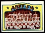 1972 Topps #282   Astros Team Front Thumbnail