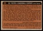 1972 Topps #308   -  Steve Renko In Action Back Thumbnail