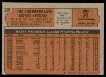 1972 Topps #239  Tom Timmermann  Back Thumbnail