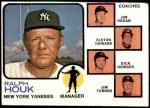 1973 Topps #116 ORG  -  Ralph Houk / Jim Hegan /  Elston Howard / Dick Howser / Jim Turner Yankees Leaders Front Thumbnail