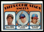1972 Topps #213   -  Art Kusnyer / Billy Parker / Tom Silverio Angels Rookies   Front Thumbnail