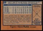 1978 Topps #456  Vern Ruhle  Back Thumbnail