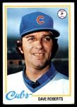 1978 Topps #501  Dave Roberts  Front Thumbnail