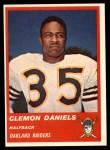 1963 Fleer #57  Clem Daniels  Front Thumbnail