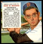 1953 Red Man #22 AL x Dom DiMaggio  Front Thumbnail