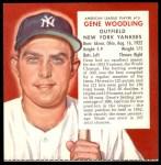 1954 Red Man #15 AL x Gene Woodling  Front Thumbnail
