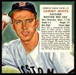1954 Red Man #14 AL x Sammy White  Front Thumbnail