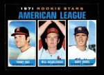1971 Topps #559   -  Terry Cox / Bill Gogolewski / Gary Jones AL Rookies - Pitchers Front Thumbnail