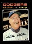 1971 Topps #567  Walter Alston  Front Thumbnail