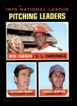 1971 Topps #70   -  Bob Gibson / Fergie Jenkins / Gaylord Perry NL Pitching Leaders Front Thumbnail