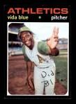 1971 Topps #544  Vida Blue  Front Thumbnail