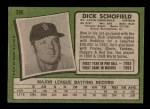 1971 Topps #396  Dick Schofield  Back Thumbnail