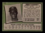 1971 Topps #572  Jerry Kenney  Back Thumbnail