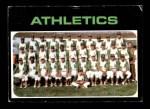 1971 Topps #624   Athletics Team Front Thumbnail