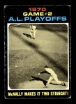 1971 Topps #196   -  Dave McNally / Brooks Robinson 1970 AL Playoffs - Game 2 - McNally Makes it Two Straight Front Thumbnail