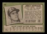1971 Topps #696  Jerry Morales  Back Thumbnail