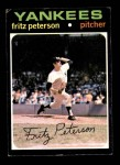 1971 Topps #460  Fritz Peterson  Front Thumbnail