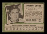 1971 Topps #367  Dalton Jones  Back Thumbnail