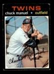 1971 Topps #744  Charlie Manuel  Front Thumbnail