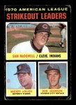 1971 Topps #71   -  Bob Johnson / Mickey Lolich / Sam McDowell AL Strikeout Leaders Front Thumbnail