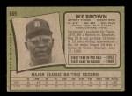 1971 Topps #669  Ike Brown  Back Thumbnail