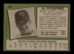 1971 Topps #564  Al Fitzmorris  Back Thumbnail