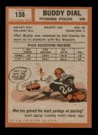 1962 Topps #130  Buddy Dial  Back Thumbnail