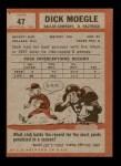 1962 Topps #47  Dick Moegle  Back Thumbnail
