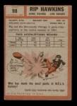 1962 Topps #98  Rip Hawkins  Back Thumbnail
