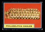1962 Topps #126   Eagles Team Front Thumbnail