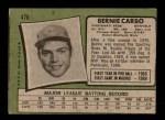 1971 Topps #478  Bernie Carbo  Back Thumbnail