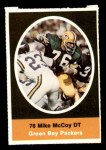 1972 Sunoco Stamps  Mike McCoy  Front Thumbnail