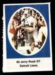 1972 Sunoco Stamps  Jerry Rush  Front Thumbnail