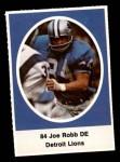 1972 Sunoco Stamps  Joe Robb  Front Thumbnail