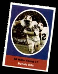 1972 Sunoco Stamps  Willie Young  Front Thumbnail