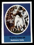 1972 Sunoco Stamps  Johnny Unitas  Front Thumbnail