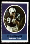 1972 Sunoco Stamps  Tom Mitchell  Front Thumbnail