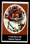 1972 Sunoco Stamps  Bob Berry  Front Thumbnail