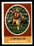 1972 Sunoco Stamps  Billy Kilmer  Front Thumbnail